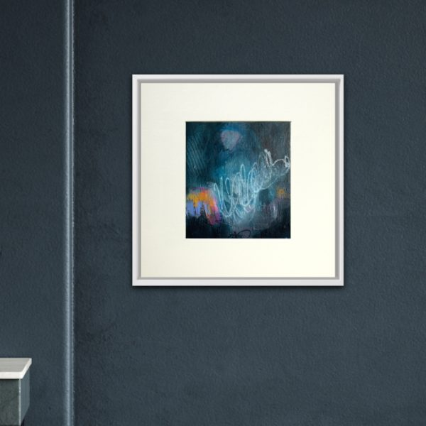 blue figurative abstract