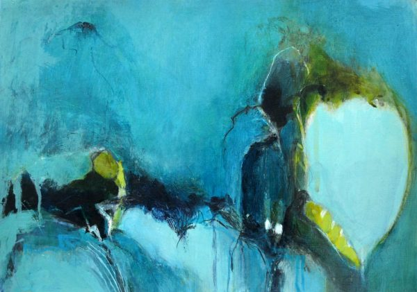 abstract blue figurative