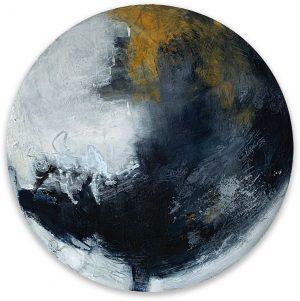 cold wax abstract circular