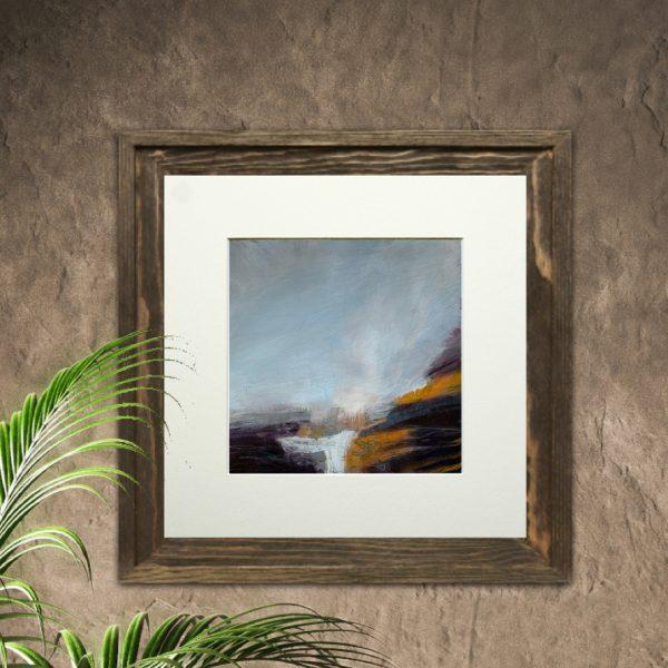 golden abstract landscape